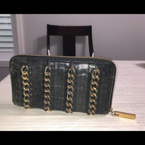 Tory Burch Leather Wallet with Chains